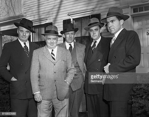 3/18/1948Allendale NJ Some of the SubCommittee members of the House UnAmerican Activities Committee visit Representative J Parnell Thomas Chairman of...