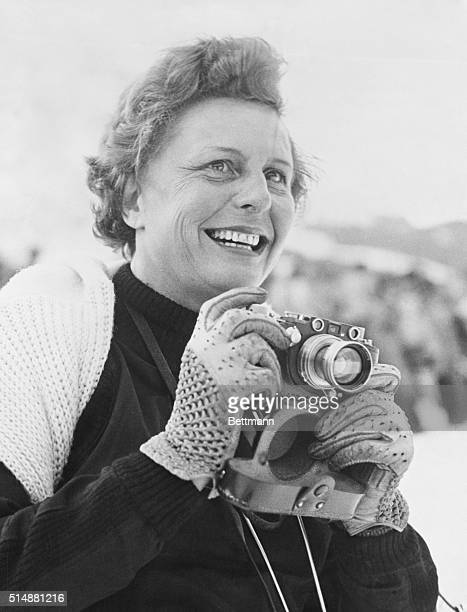 Leni Riefenstahl at Garmish a ski resort