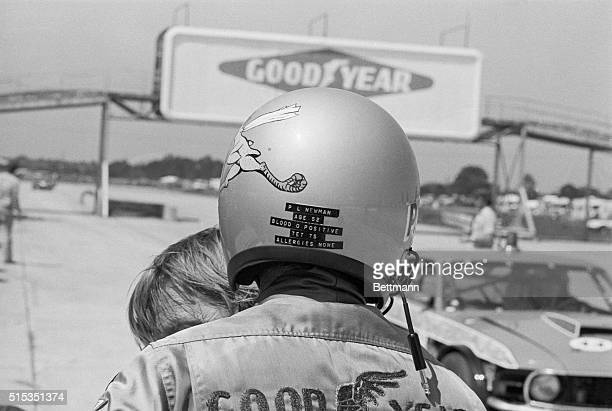 3/18/1977Sebring FL Quick fans what's Paul Newman's blood type Can you tell It's O positive from the data on the back of his helmet as he stands on...