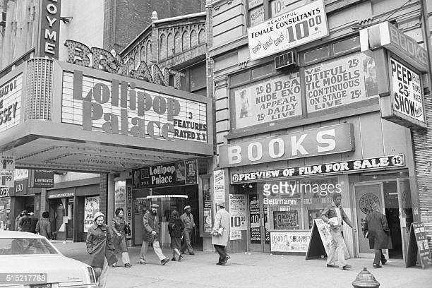 3/1977New York NYAdult book store and movie house showing Xrated movies on 42nd St