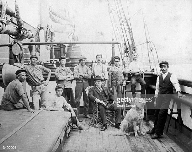Commander Thomas Skinner and his crew on board the Linda Park of Belfast