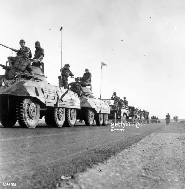 French tanks and troops heading for Djebbel Kasserou in Algeria