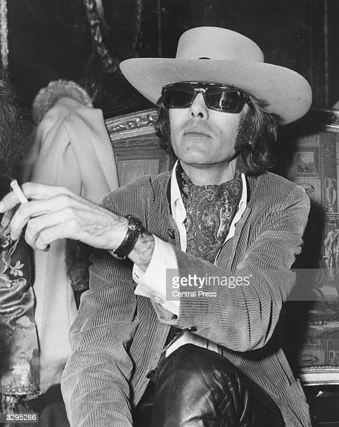 New York born Spencer Dryden drummer with American psychedelic rock group Jefferson Airplane relaxes at a reception held for the group in London...