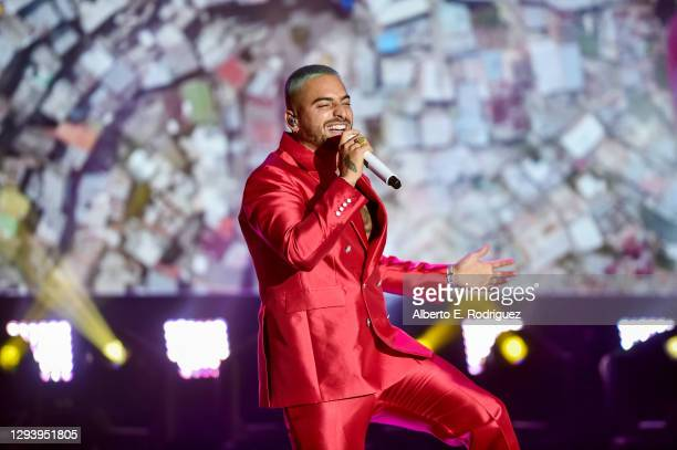 31st: In this image released on December 31, Maluma performs at Dick Clark's New Year's Rockin' Eve with Ryan Seacrest 2021 broadcast on December 31,...