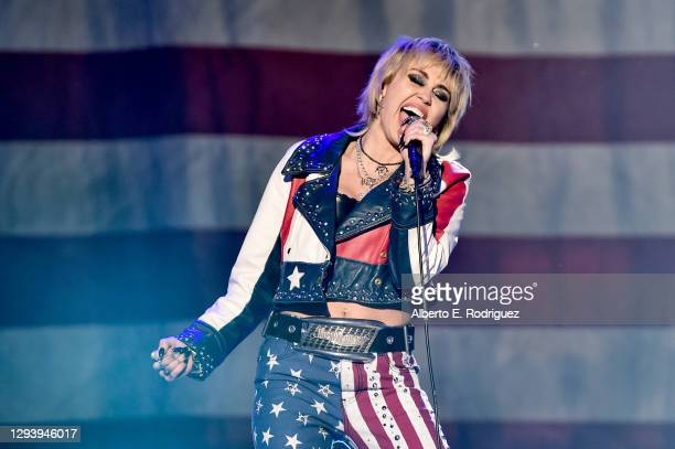 31st: In this image released on December 31, Miley Cyrus performs at Dick Clark's New Year's Rockin' Eve with Ryan Seacrest 2021 broadcast on...