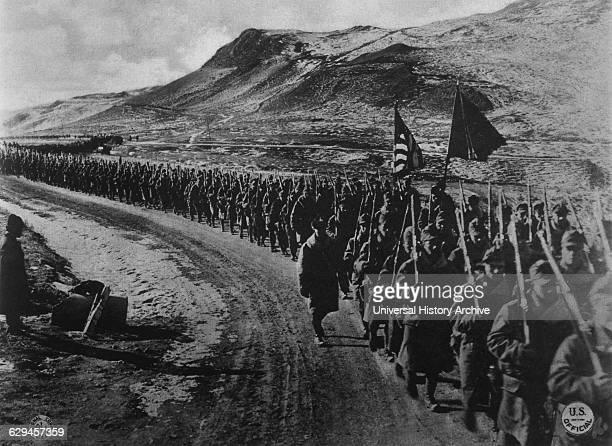 US 31st Infantry Troops on March Near Vladivostok Russia 1918