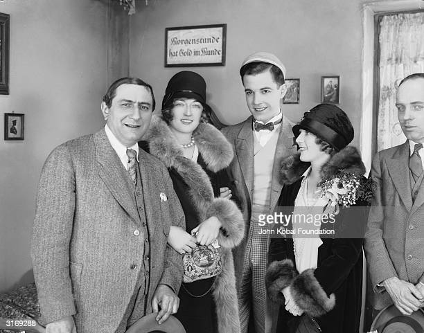 German director Ernst Lubitsch with film stars Marion Davies , Philippe DeLacy and Norma Shearer during the filming of 'The Student Prince in Old...