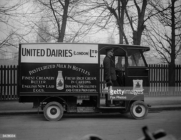 A new United Dairies milk delivery van