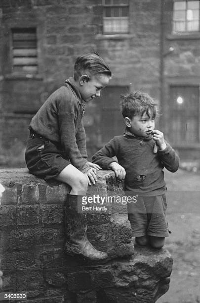 Two young boys from the Gorbals area of Glasgow The Gorbals tenements were built quickly and cheaply in the 1840s providing housing for Glasgow's...