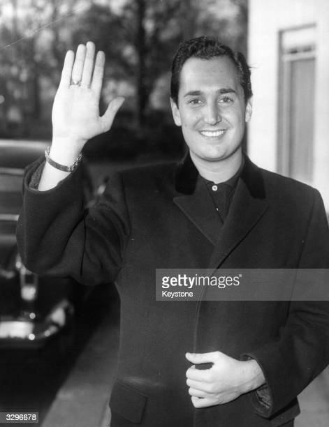 21 year old American pop singer and songwriter Neil Sedaka ouitide the Dorchester Hotel Neil who is currently at number 7 in the hit parade with his...