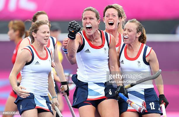 31st July 2012 London 2012 Olympic Games Women's Hockey Great Britain vs South Korea Crista Cullen celebrates after scoring their 2nd goal