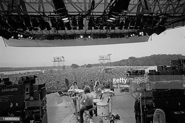 American rock group Aerosmith perform live on stage at Eastwood Lake Park in Dayton Ohio USA on 31st July 1976