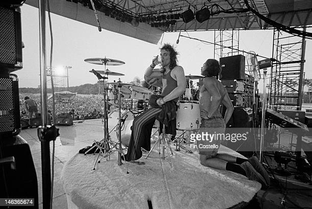 drummer Joey Kramer from American rock group Aerosmith performs live on stage at Eastwood Lake Park in Dayton Ohio USA on 31st July 1976