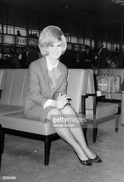 Singer Dusty Springfield at London Airport