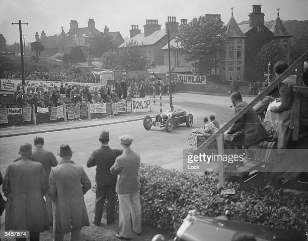 The Hon Brian Lewis rounding the hairpin bend at Bray on his way to winning the Mannin Moar Race on the Isle of Man for the third successive time