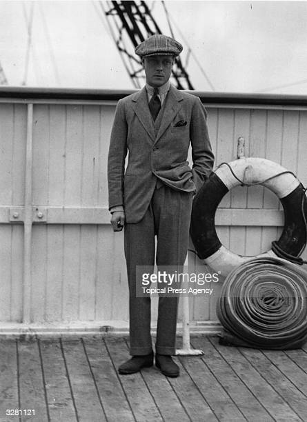 Edward Prince of Wales arriving home from a tour