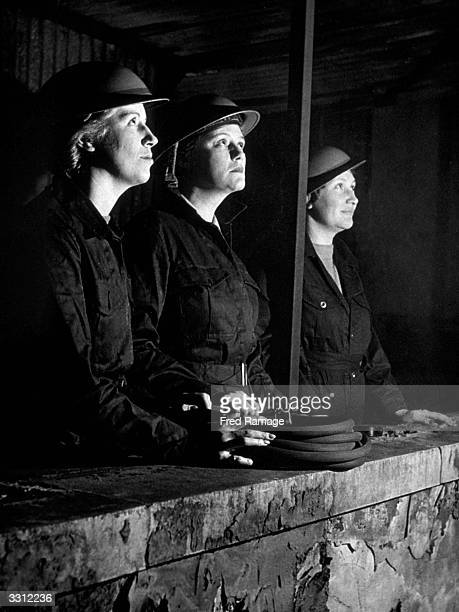 Women fire guards on duty Original Publication Picture Post 1276 FireFighting An Enquiry pub 1942