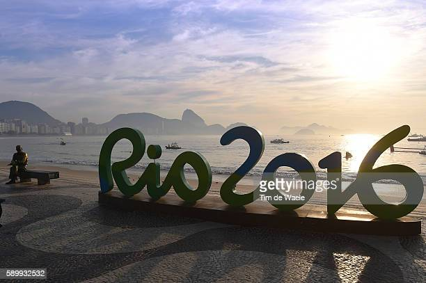 31st Rio 2016 Olympics / 10km Marathon Swimming Women's Illustration / COPACABANA Beach / Landscape / Sea / logo/ Fort Copacabana / Summer Olympic...