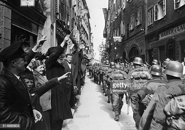 3/20/1938Salsburg Austria Salzburg Austrian home of festivals resounded to martial strains when German troops marched through on their occupation of...