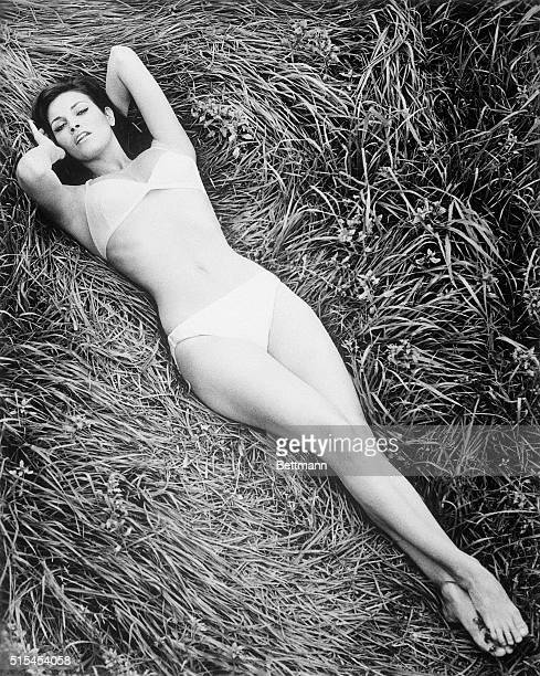 3/20/65Hollywood CAThe first day of spring brings shapely Raquel Welch out from the sound stage to bask in the plus70 degrees of a summerlike...