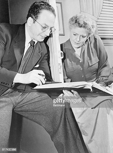 """Hollywood, CA-: For the first time in twelve years, actress Ethel Barrymore will work before the movie cameras, portraying the role of """"Ma Mott"""" in..."""