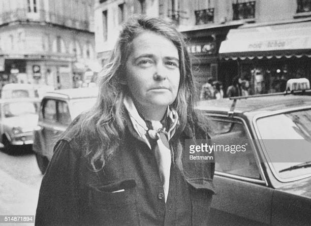 American feminist leader Kate Millet who was expelled from Tehran Iran last 3/19 strolls in a street of Paris left bank 3/21 Miss Millet who said the...