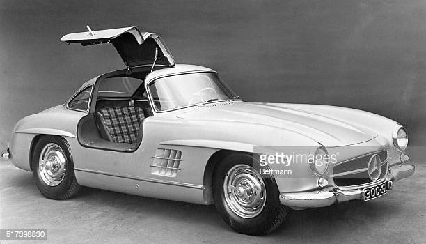 3/22/1954Frankfurt Germany This model of the new Mercedes was displayed recently in Frankfurt Shown is the new Mercedes 300SL built as a racing car...