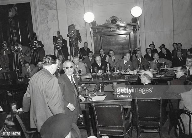 3/23/1951Washington DC Jake 'Greasy Thumb' Guzik reputed successor to the late Al Capone as Chicago underworld czar yesterday defied the Senate Crime...