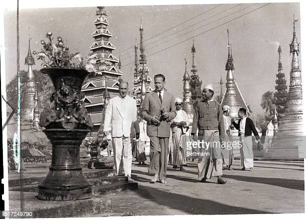 3/23/1959Rangoon Burma Barefoot in Burma United Nations SecretaryGeneral Dag Hammarskjold pays a visit to the famed Great Shwedagon Pagoda near...