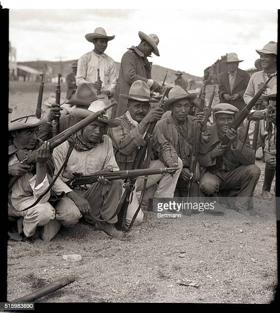 3/24/1929Nogales Mexico This photo shows a study of interesting Mexican rebel types among the rebel forces at Nogales in the state of Sonora Mexico...