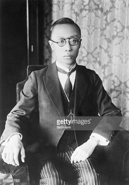 3/24/1932Manchuria China A portrait of Henry PuYi former boy Emperor of China ruler of the newlyformed state of Manchuria taken in Mukden Manchuria...