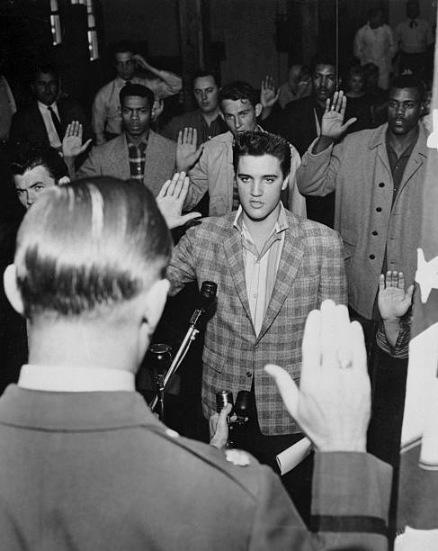 Elvis Presley Was Then Sworn Into The Army Here March 24th By Maj Elbert P
