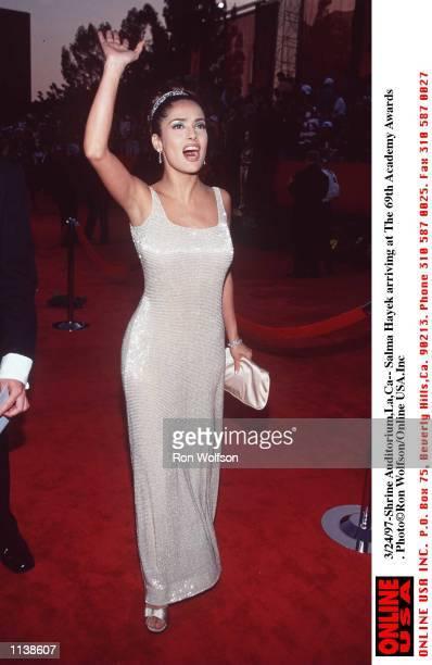 3/24/97Salma Hayek arriving at the 69th Academy Awardsat the Shrine Auditorium