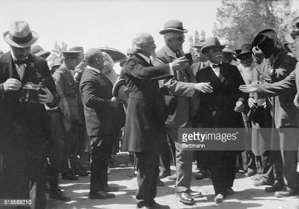 Lord Balfour arriving on Richon le Zion Palestine