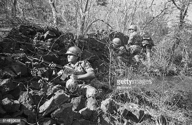 3/26/1982El Playon El SalvadorA British ITV crew films members of El Salvador's UStrained Atlacatl Battalion recently The battalion made up of...