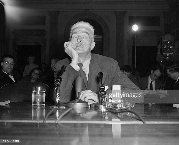 3/26/53Washington DC Detective writer Dashiell Hammett creator of the Thin Man shown as he appeared before the Senate Investigating Committee here...