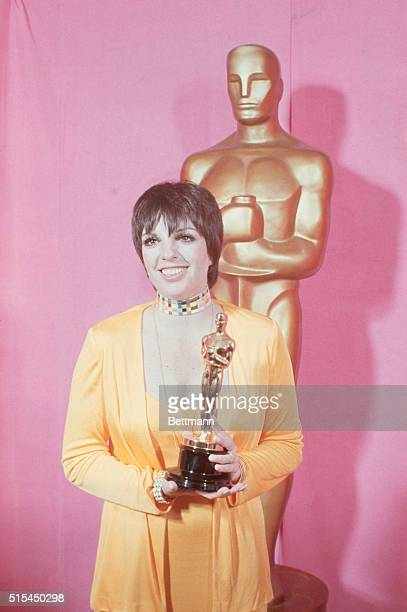 3/27/1973Hollywood CA Liza Minnelli holds Oscar she won as 'Best Actress of 1972' for 'Cabaret' at the Academy Awards Ceremony here