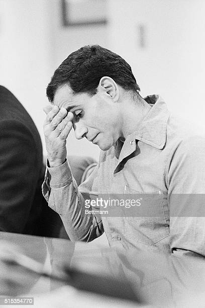 3/27/1986Soledad CA Sirhan Sirhan wipes his brow during his parole hearing at the Soladad Correctional Training Facility Sirhan is the convicted...