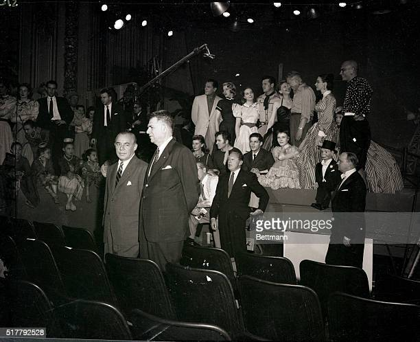 3/28/1954New York New York Picture shows a rehearsal for the ROgers Hammerstein TV spectacular