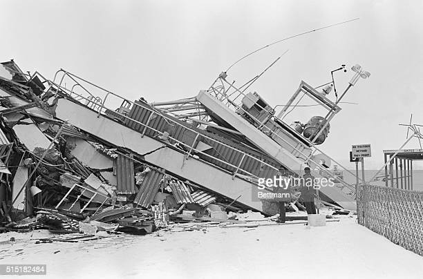 3/28/1964Anchorage AK View of a collapsed building at Anchorage International Airport after a tremendous earthquake rocked this city late March 27th...
