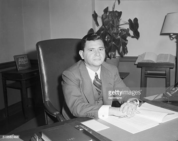 3/29/1951New York NY To Sentence Spies Federal Judge Irving R Kaufman sits at his desk at Federal Court March 29 before sentencing Julius and Ethel...