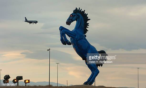 A 32foot sculpture commissioned three years before Denver International Airport opened was finally installed in the median of Pena Boulevard leading...