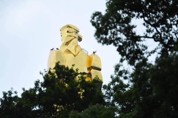 CHN: 'Golden Eagle' Statue In Chongqing