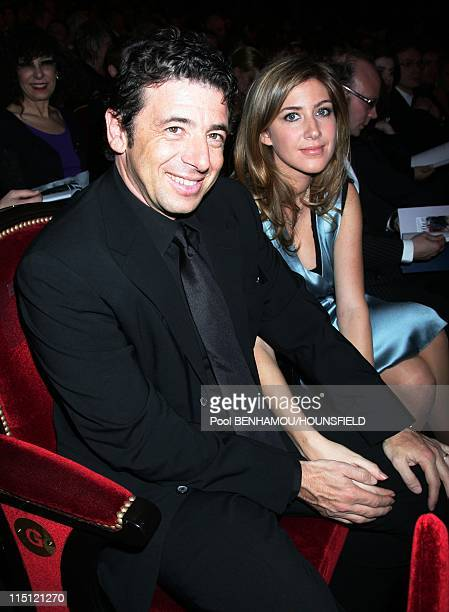 32nd Cesar Awards Ceremony at the Theatre du Chatelet in Paris France on February 24 2007 Patrick Bruel and his wife Amanda Sthers