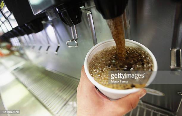 A 32ounce soda is filled at a Manhattan McDonalds on September 13 2012 in New York City In an effort to combat obesity the New York City Board of...