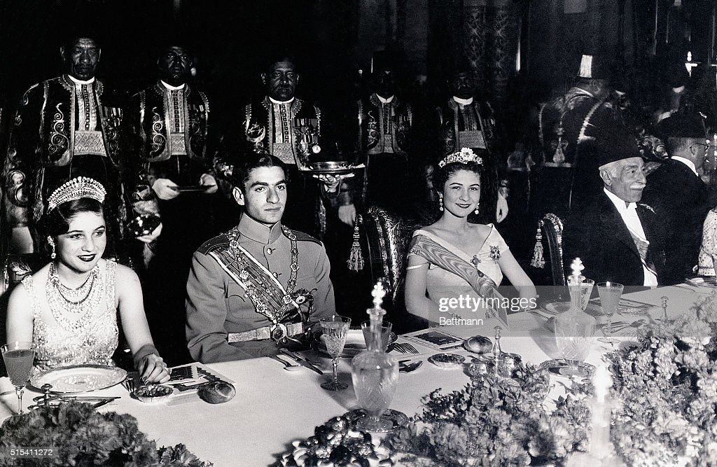 Mohamed Rida Chabour with Wife and Queen Farida : News Photo