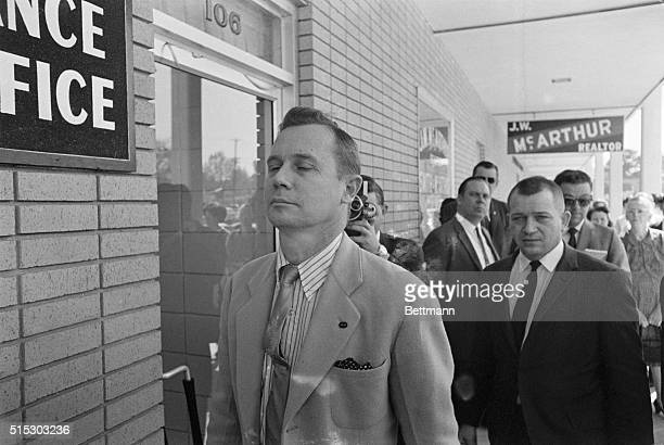 3/31/1966Hattiesburg Mississippi Sam H Bowers Jr identified as imperial wizard of the supersecret White Knights of the Ku Klux Klan appears outside...