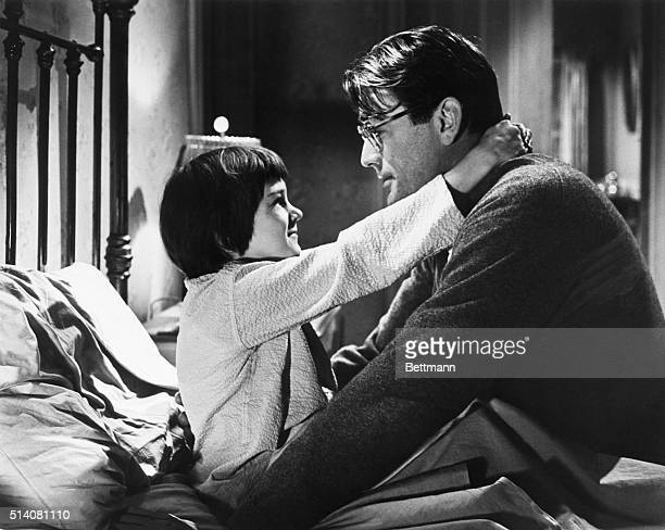 3/3/1962Hollywood CA Movie still of actor Gregory Peck wears glasses in next motion picture To Kill A Mockingbird UniversalInternational's film...