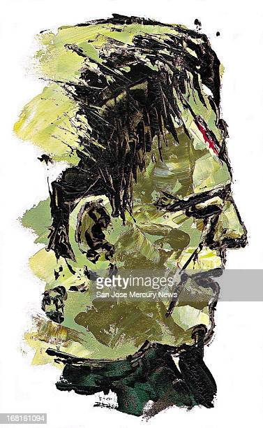 33p x 53p Wes Killingbeck color illustration of Frankenstein monster