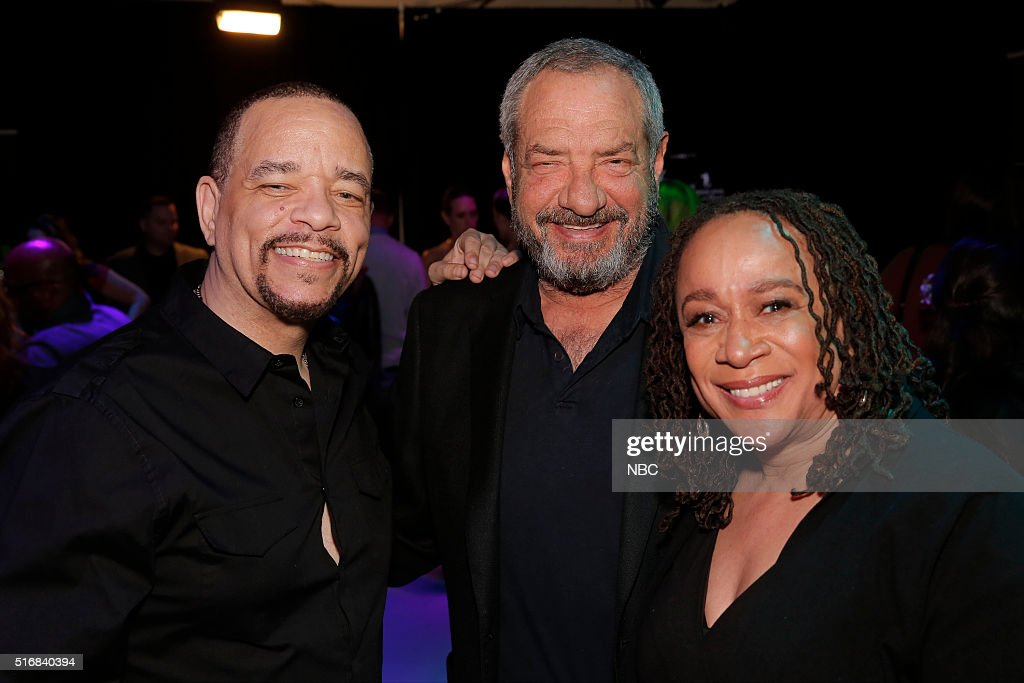 EVENTS -- '33rd Annual PaleyFest: An Evening with Dick Wolf' -- Pictured: (l-r) Ice-T, Dick Wolf, Creator and Executive Producer; S. Epatha Merkerson at PaleyFest LA 2016 honoring 'Law & Order: Special Victims Unit' and 'Chicago Med', presented by The Paley Center for Media, at the Dolby Theatre on March 19, 2016 in Hollywood, California --